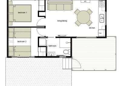 Cabin 2 & 3 floor plan