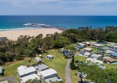 Surfside Aerial overlookng camp sites 3-6